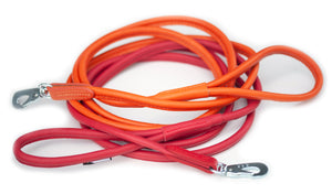 Round leather lead - ORANGE