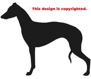 Standing Whippet sticker/decal in adhesive vinyl