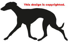 Trotting Whippet sticker/decal in adhesive vinyl