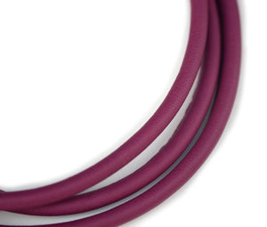 Wine round dog leather lead