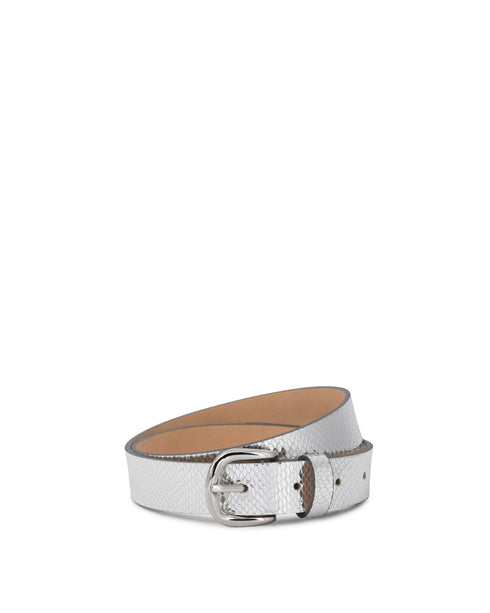 Zap Metallic Snake Belt