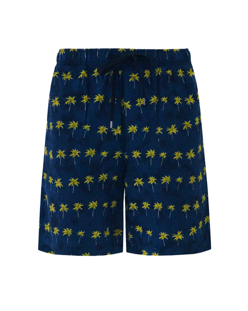 Drawstring Short - Parallel Palms