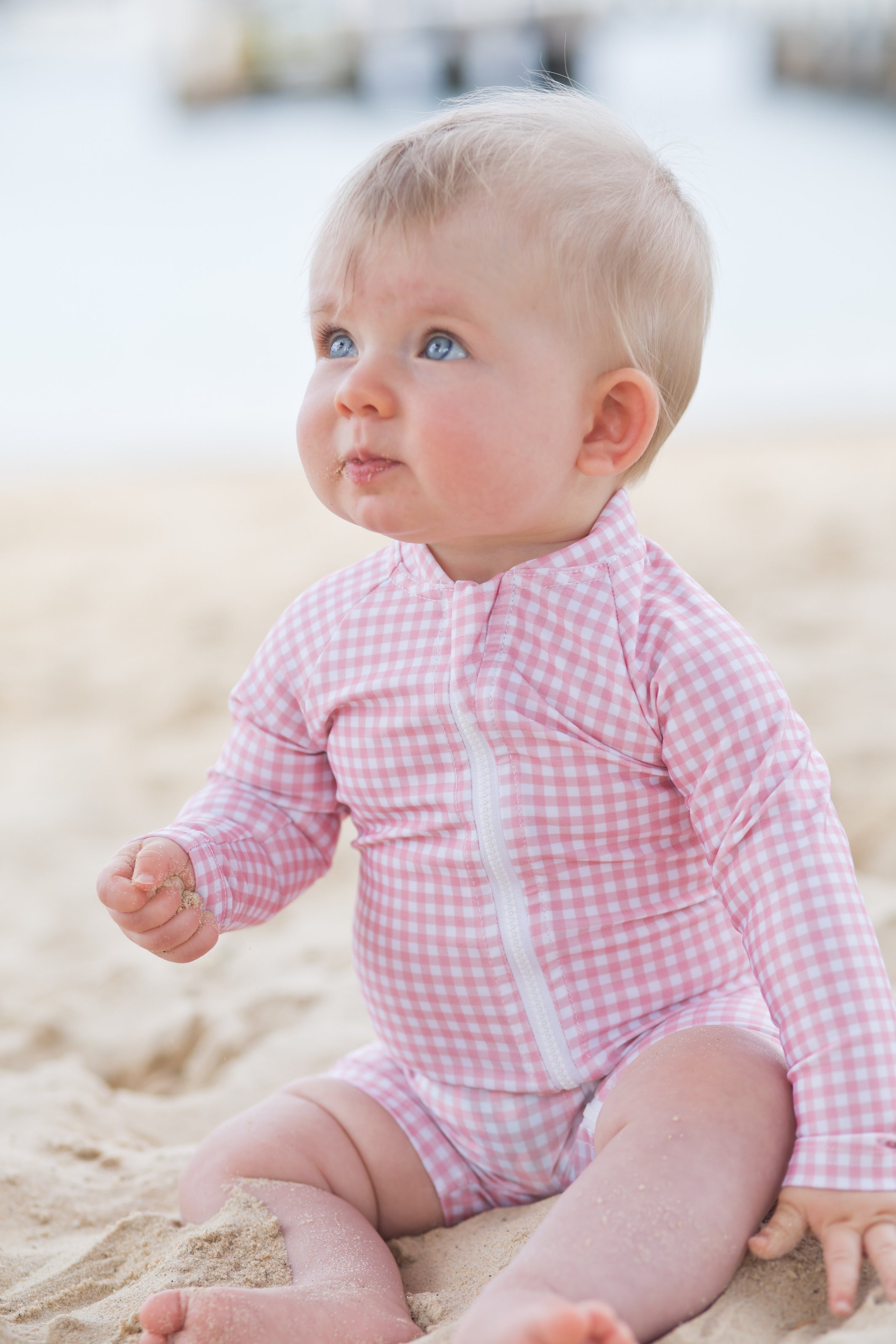 hary & pop pambula pink gingham sunsuit