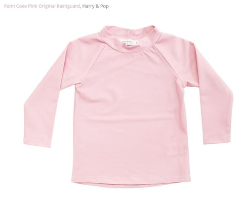 harry & pop original rashguard in palm cove pink