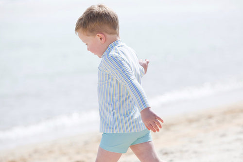 harry & pop budgie brief in great ocean green | UPF 50+ swimwear for kids, toddlers, baby