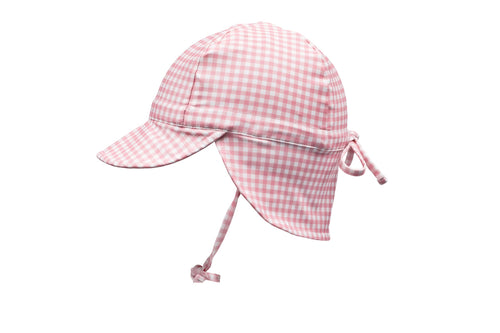 pambula pink gingham swim flap hat
