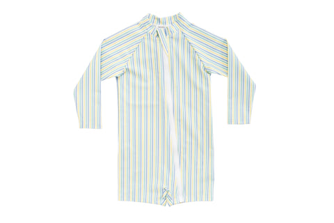 bells blue gingham surf suit