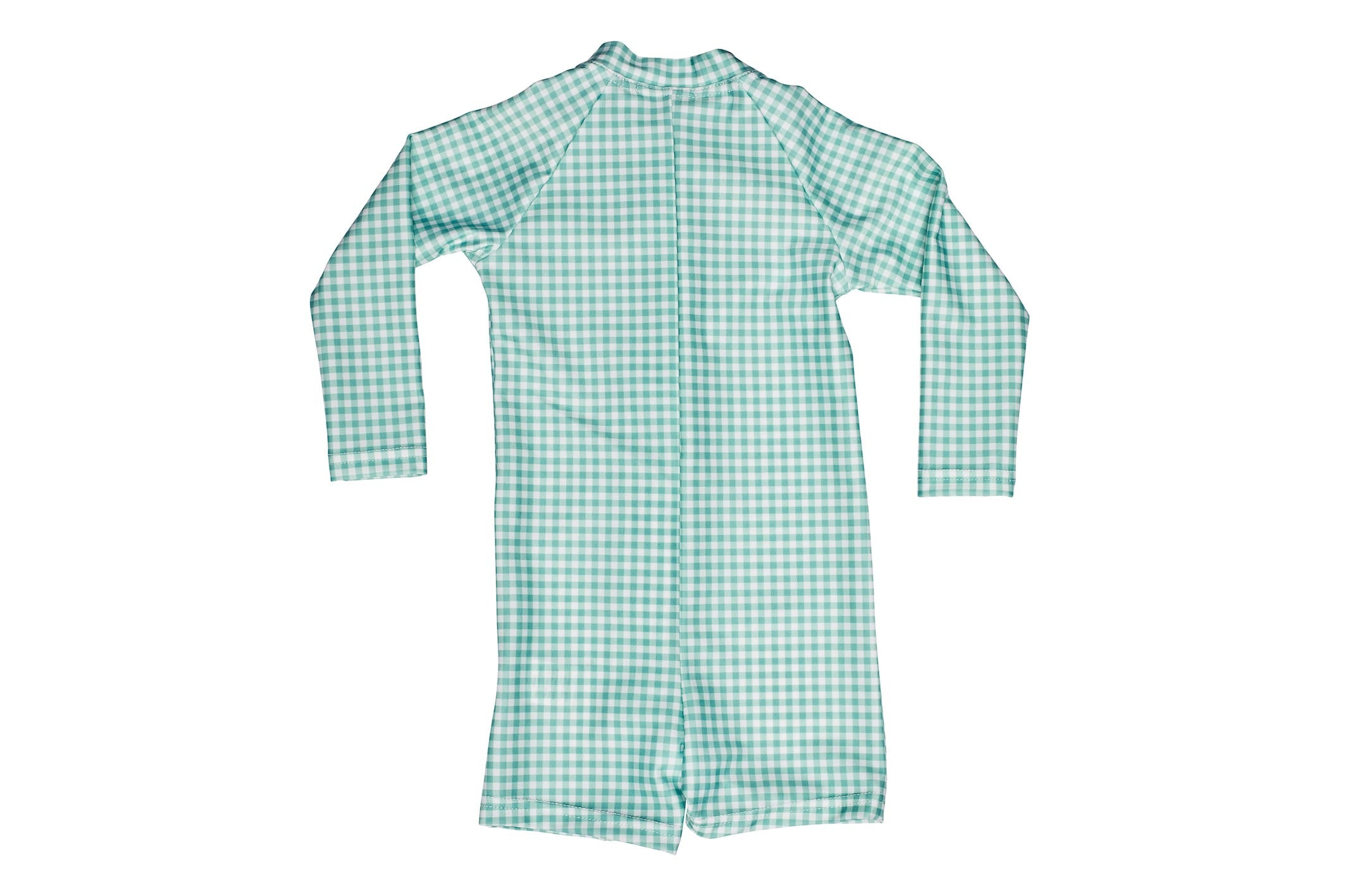 galaru green gingham sun suit