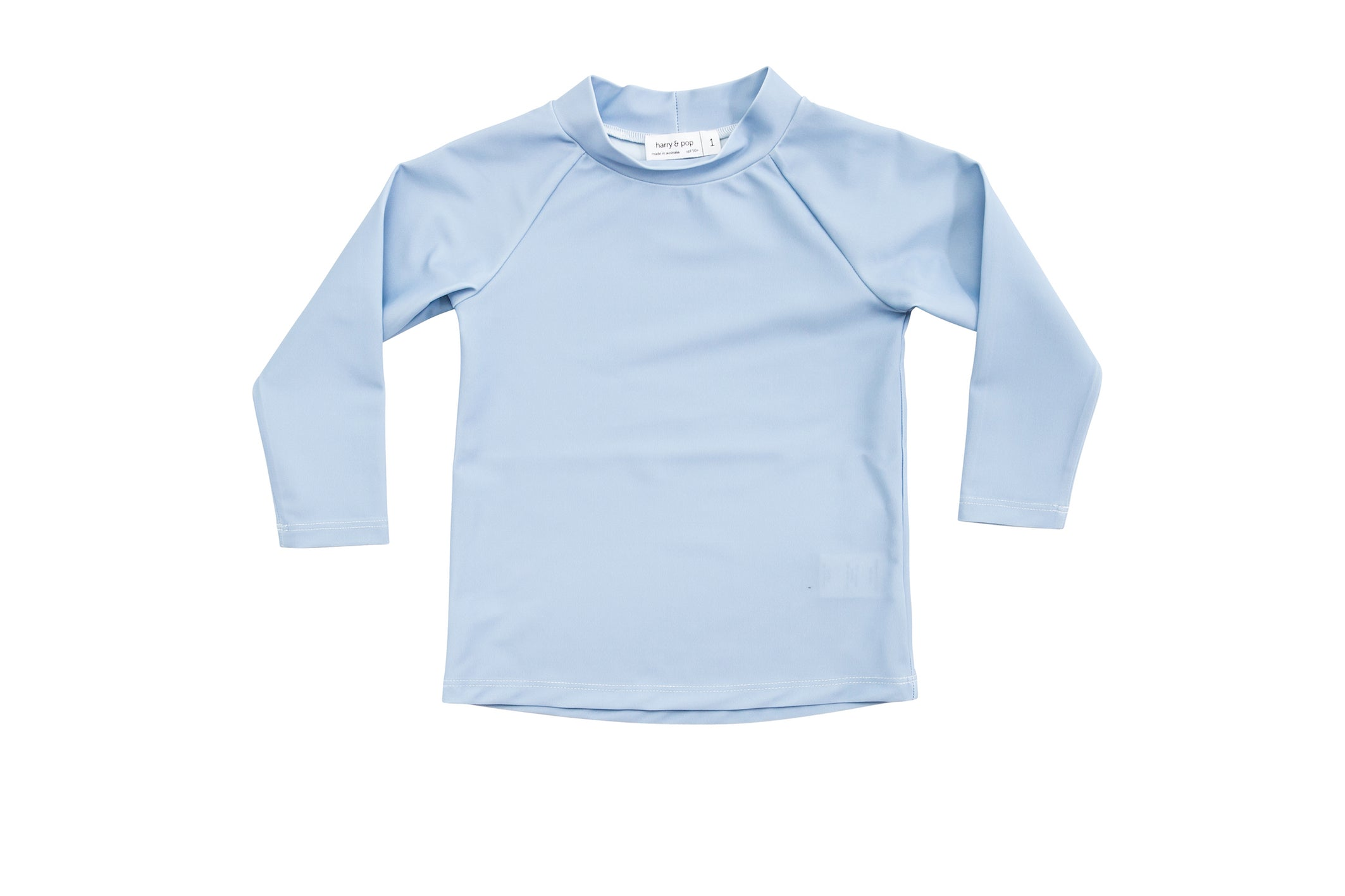 harry & pop original rashguard in byron bay blue | rashie | rashvest