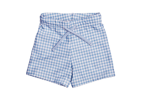 baby bells blue gingham budgie brief
