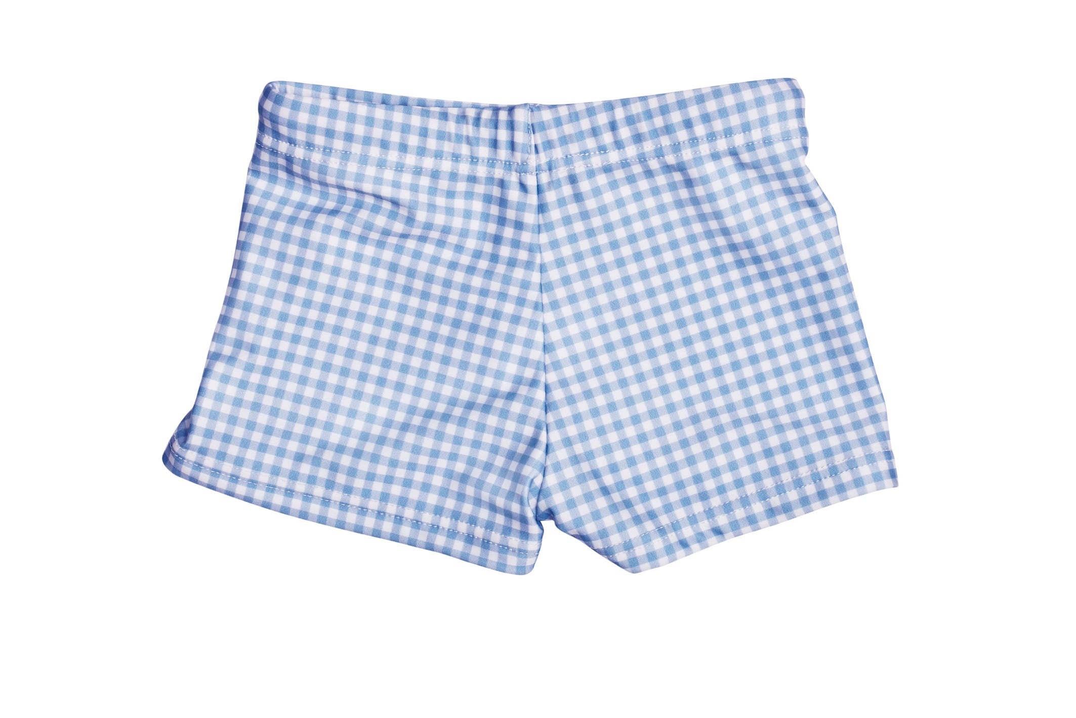 kids bells blue gingham budgie brief