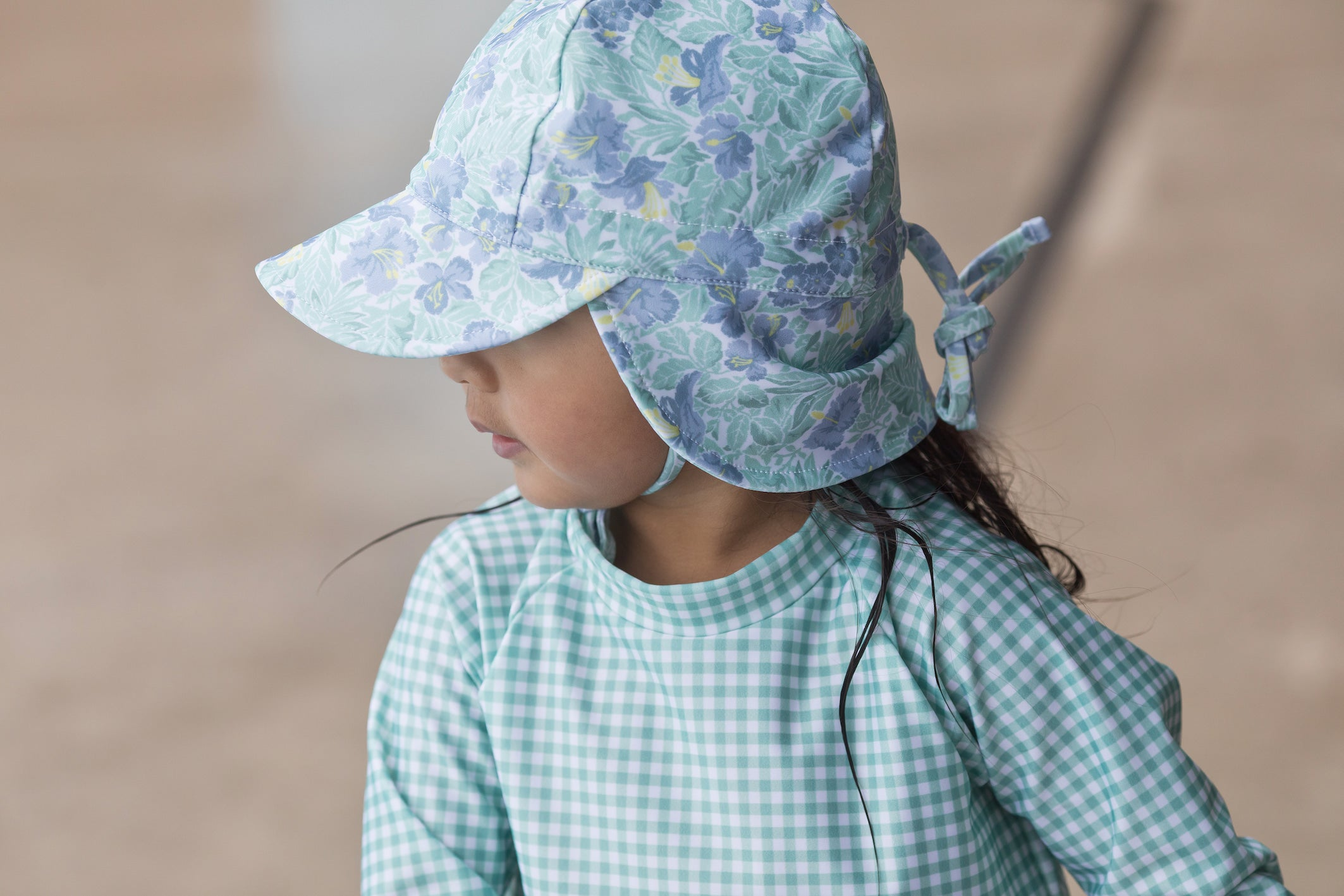 freshwater floral swim flap hat (pre-order)