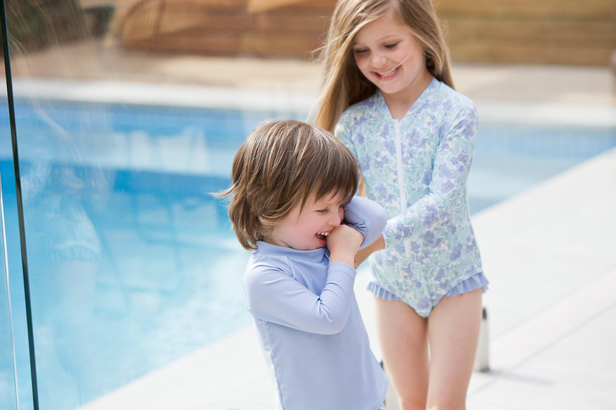 freshwater floral surf suit