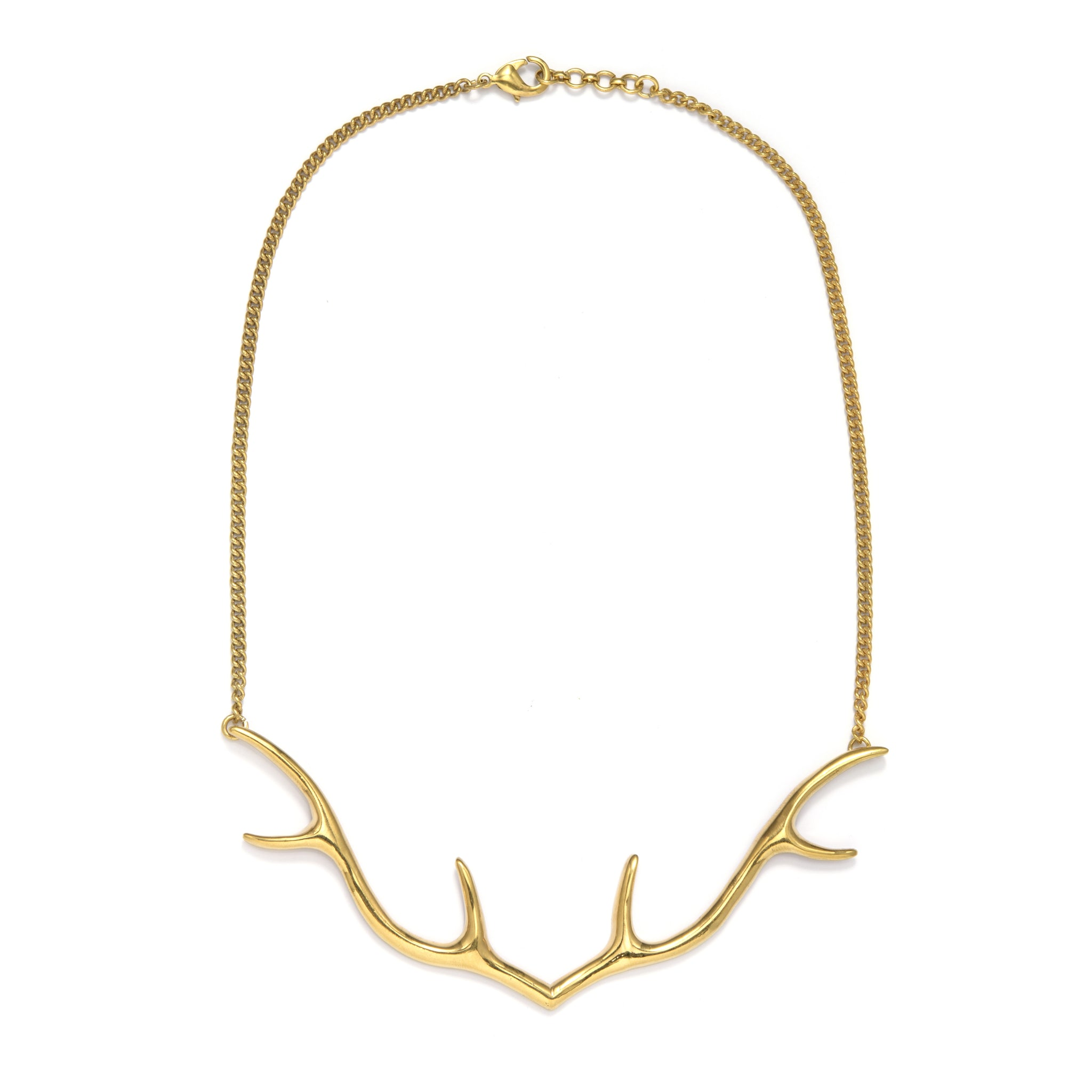 necklace silver products padgett hoke antler