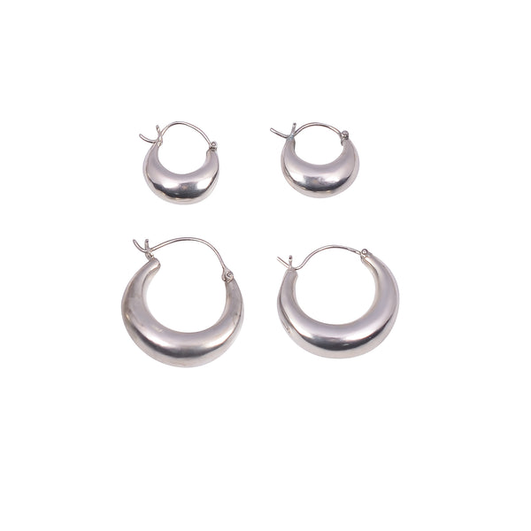 PIRATE HOOPS SMALL SILVER