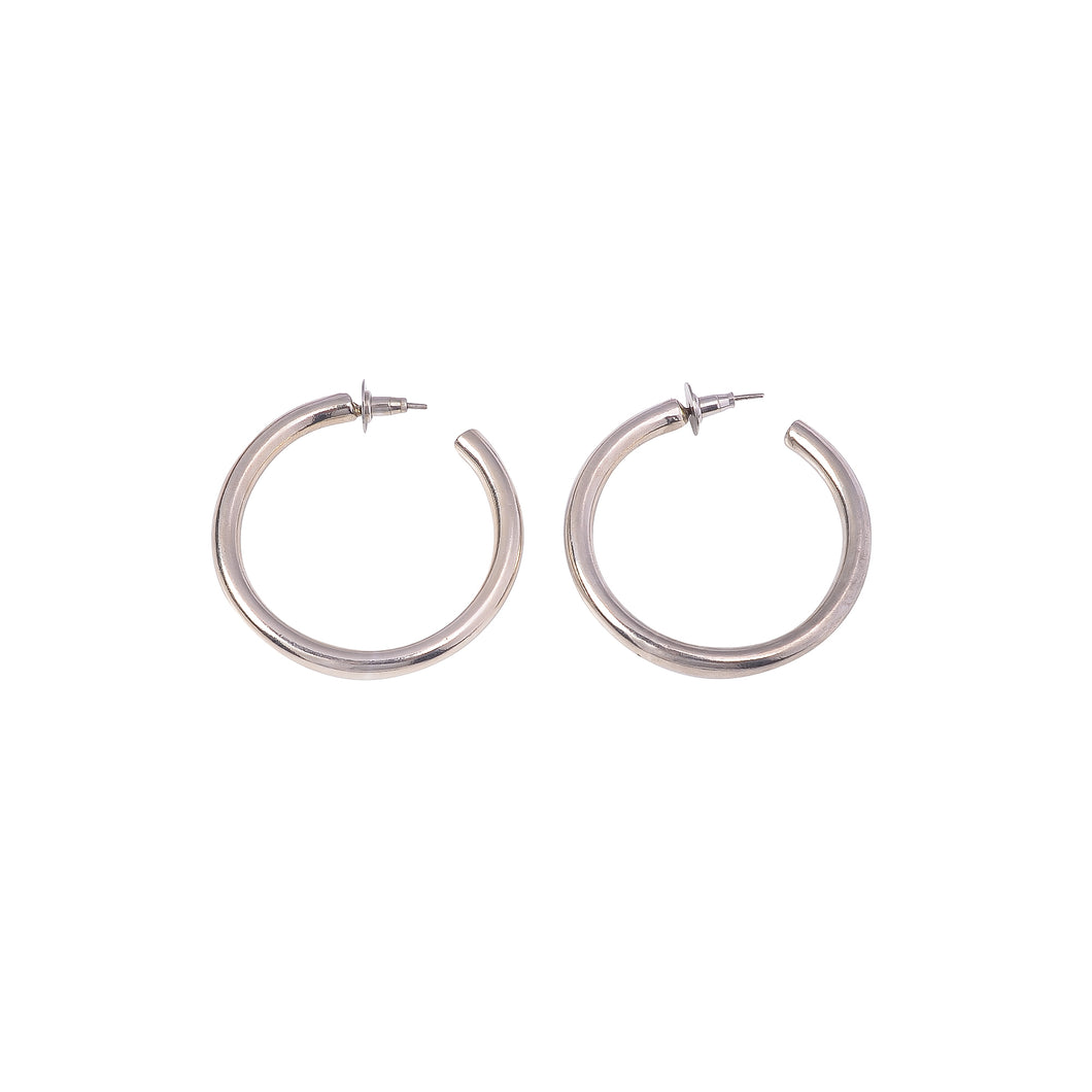 CLASSIC HOOPS SMALL SILVER