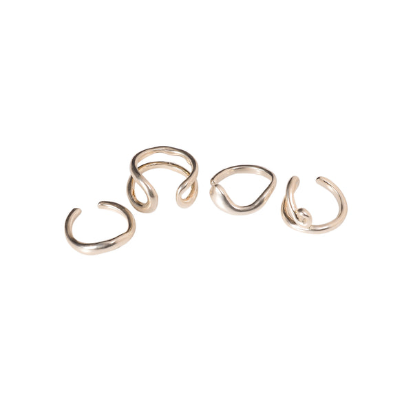 NAGMURI RING SET SILVER