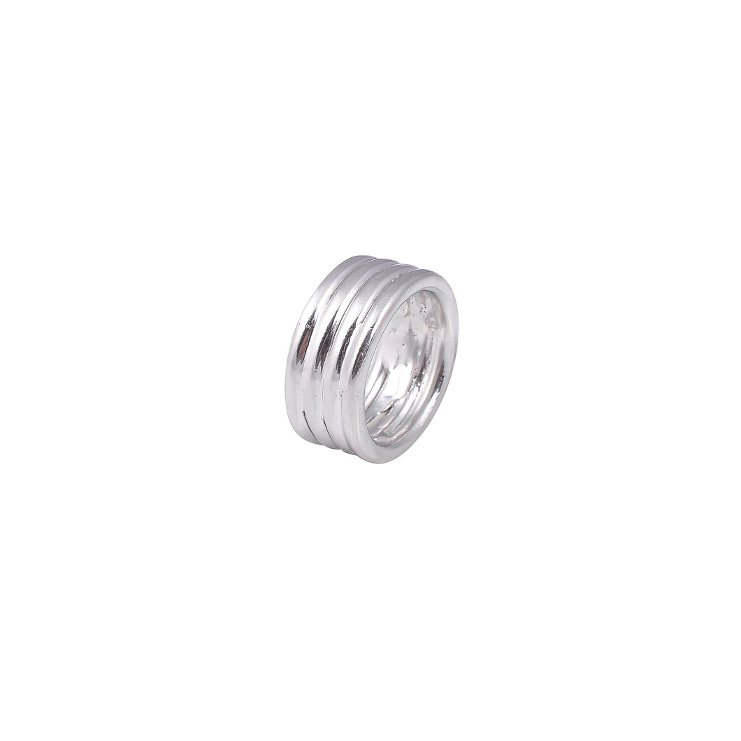 COIL RING SILVER