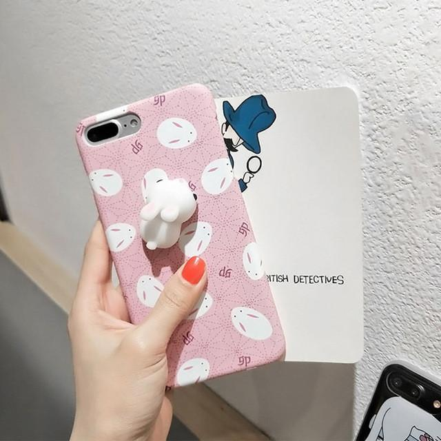 buy popular f9e14 82466 3D Squishy iPhone Case | BUNNY