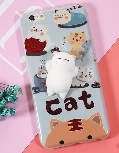 3D Squishy iPhone Case | CAT ON CATS Pacific Bling