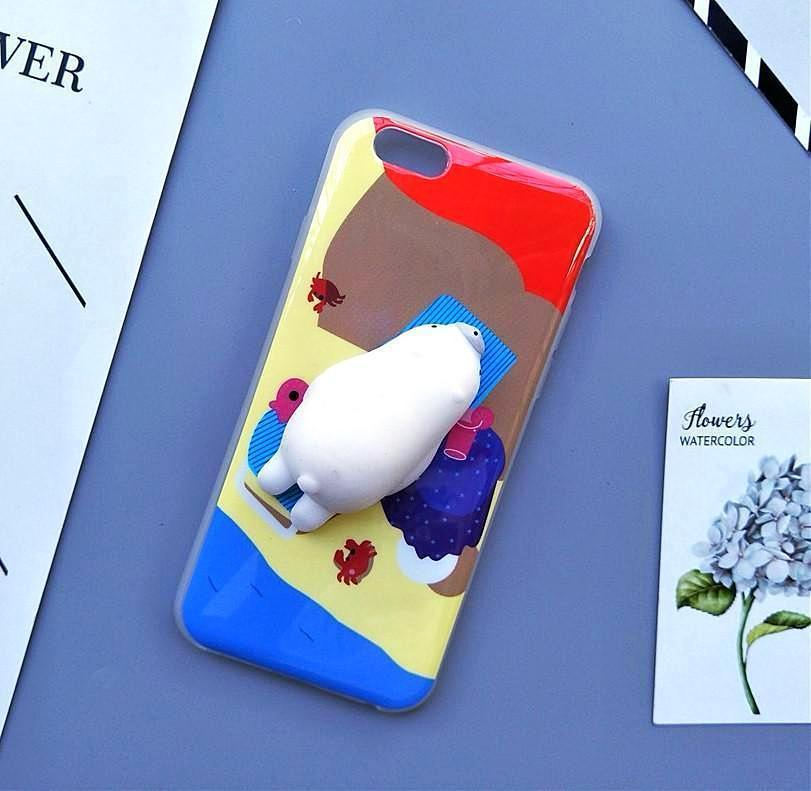 3D Squishy iPhone Case | POLAR BEAR Pacific Bling