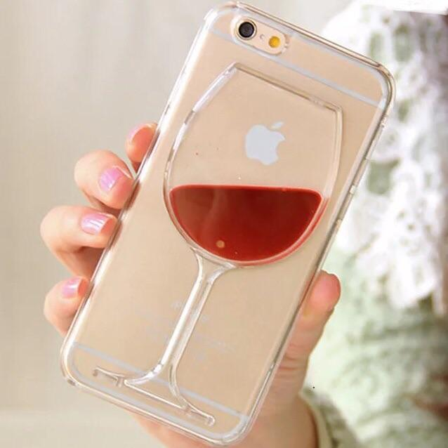 3D Wine Glass Liquid Phone Case