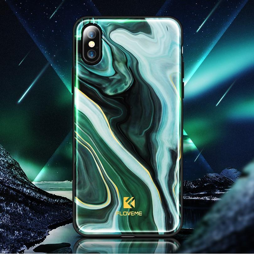 Agate Green Lacquered Marble iPhone Case