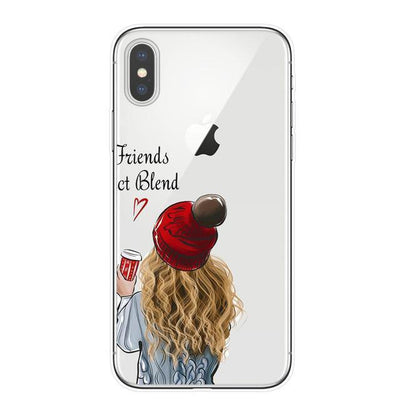 Best Friends BFF Matching Phone Cases | Coffee Lovers Pacific Bling