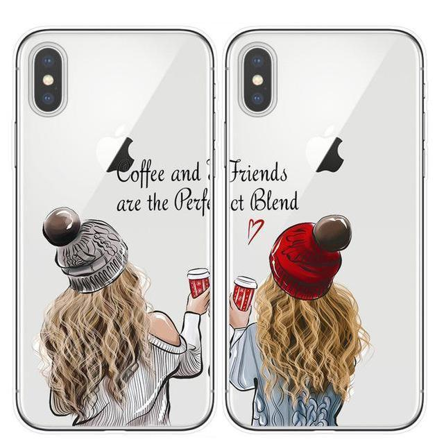 Best Friends BFF Matching Phone Cases | Coffee Lovers