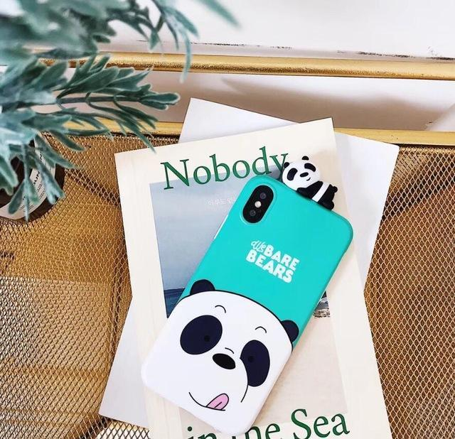 Blue-Green We Bare Bears 3D Phone Case