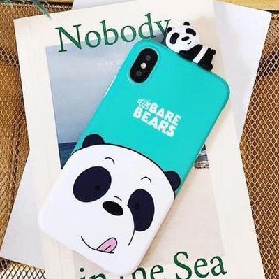 Blue-Green We Bare Bears 3D Phone Case Pacific Bling