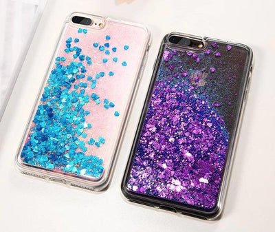 Blue Stardust Liquid Glitter iPhone Case Pacific Bling