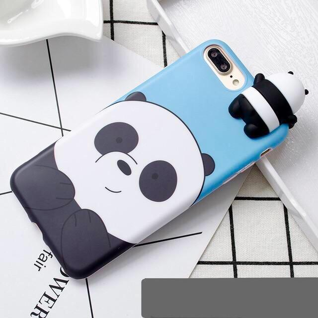 Blue We Bare Bears 3D Phone Case