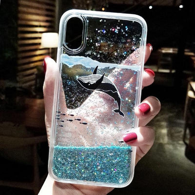 Blue Whale Arctic Glitter Phone Case Pacific Bling