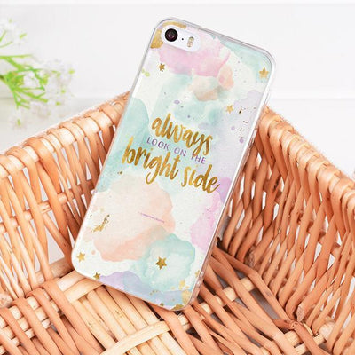 Bright Side Inspirational Quote iPhone Case Pacific Bling