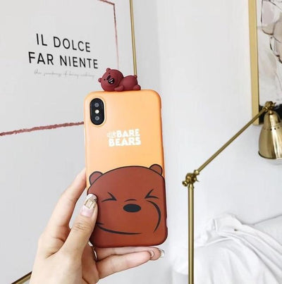 Brown We Bare Bears 3D Phone Case Pacific Bling
