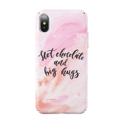 Chocolate And Hugs Quote Phone Case Pacific Bling