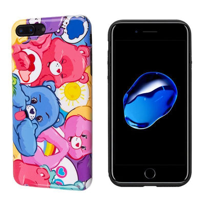 Colourful Care Bears Glossy Phone Case Pacific Bling