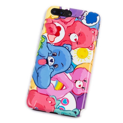 Colourful Care Bears Glossy Phone Case