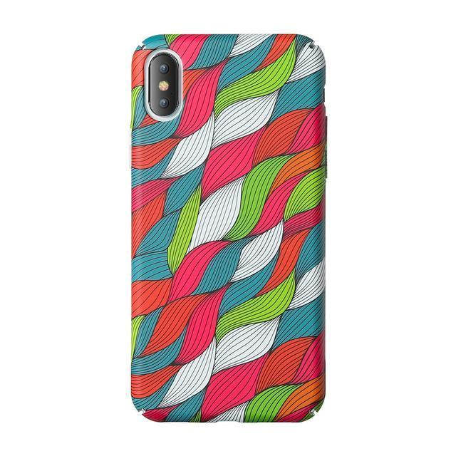 Colourful Leafy Knots Pattern Phone Case