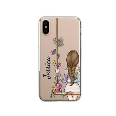 Customizable Matching BFF Phone Cases | Pretty Florals Pacific Bling