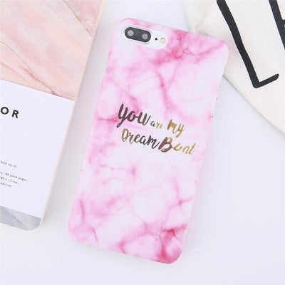 Dreamboat Quote Marble iPhone Case Pacific Bling