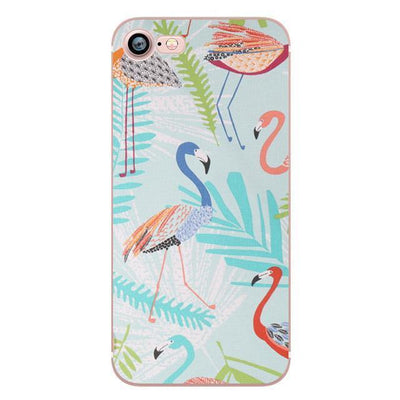 Flamingos iPhone Case | Vibrant Summer Pacific Bling