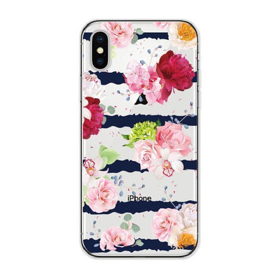 Floral Orchid Cluster Stripes Cellphone Case Pacific Bling
