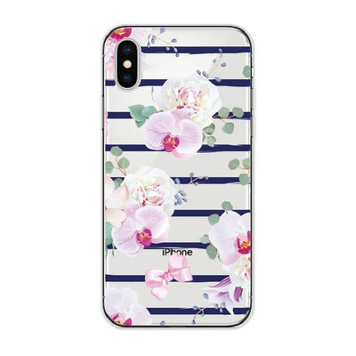 Floral Orchid Stripes Cellphone Case Pacific Bling