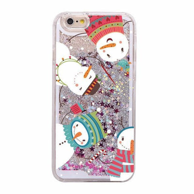 Four Snowmen Holiday Glitter Phone Case Pacific Bling