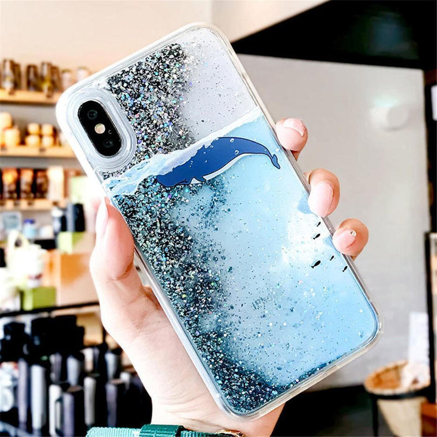 Free Willy Whale Glitter Phone Case