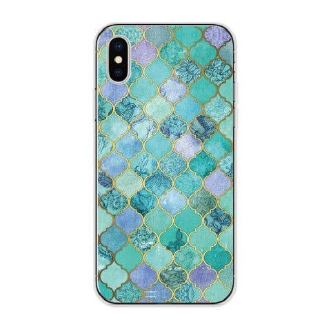 Green Exotic Moroccan Tile Cellphone Case Pacific Bling