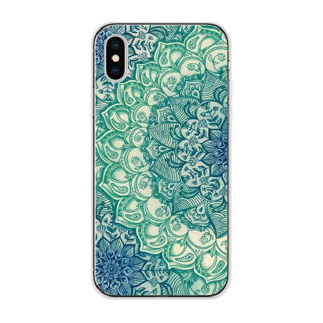 Green Floral Mandala Cellphone Case Pacific Bling