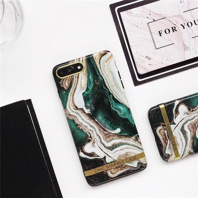 Green Lava Glitter Marble Phone Case Pacific Bling